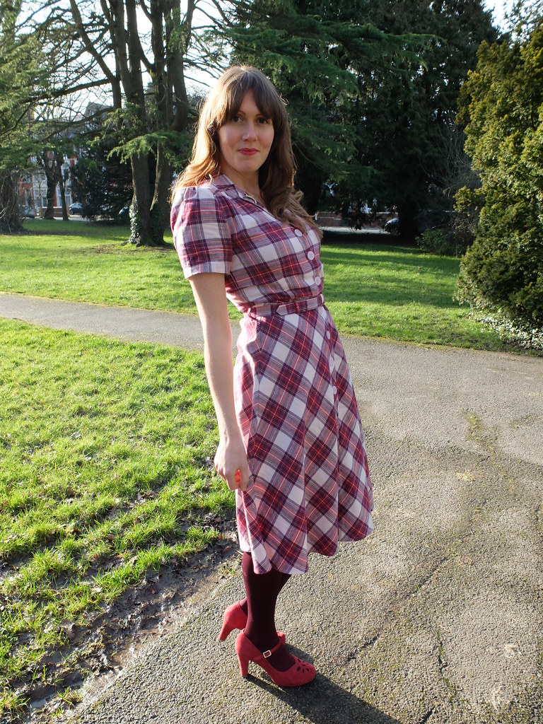 Seamstress of Bloomsbury Lisa Tartan Dress