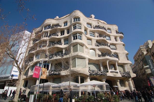 西班牙 巴塞隆納 米拉之家 Casa Mila Barcelona Spain