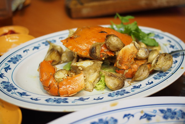 butter garlic crab. New Ubin Seafood, Sin Ming Industrial Estate
