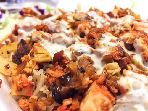 Halal food cart lunch