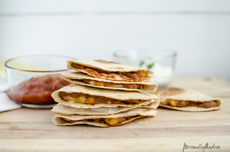 Easy Quesadillas with Four Ingredients