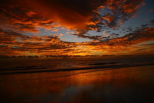 colour beach clouds sunrise canon canoneos20d qld queensland woodgatenationalpark