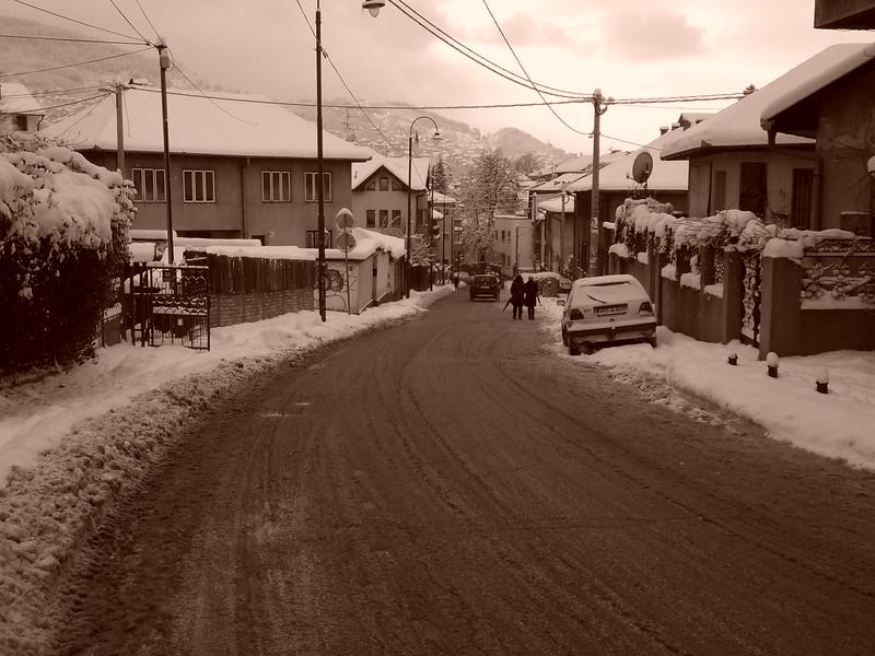 Dusk approaches, Sarajevo