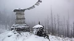 chorten in snow