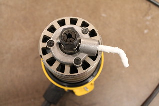 Router collet with pin