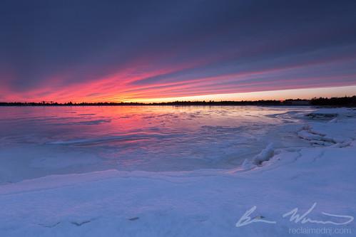 sunset ice water frozen newjersey unitedstates nj saltmarsh bassriver 2015 tuckerton leefilters newgretna bassrivertownship 9ndsoftgrad