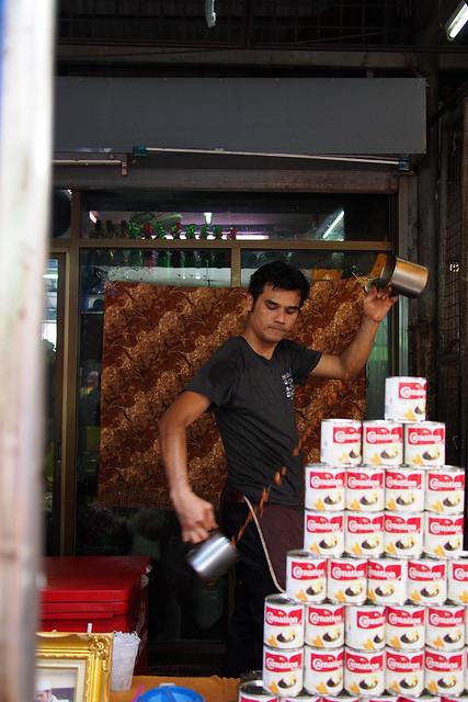 iced teh tarik man, Chatuchak Market, Bangkok, Thailand