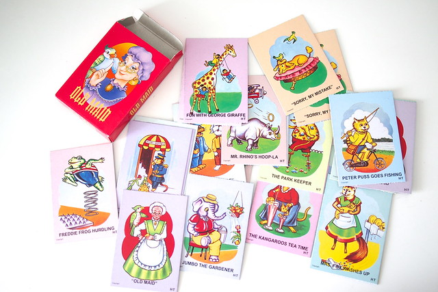 Old Maid card game. retro nostalgic old school childhood games, 1980s Singapore