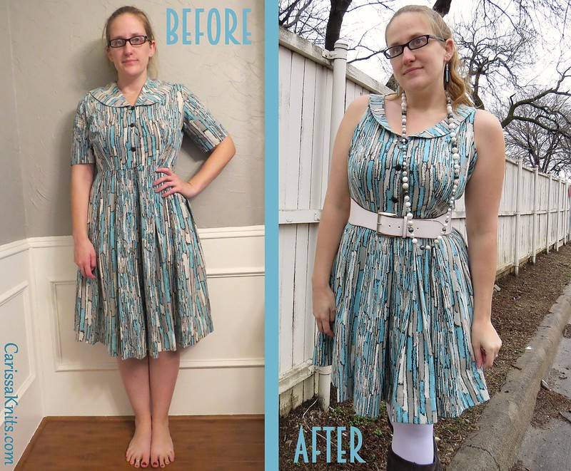 Vintage Dress Revival - Before & After