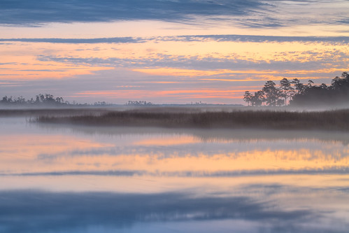 morning sky mist color reflection nature water fog clouds sunrise canon georgia landscape dawn swamp marsh canon70200mm canon7d blackbeardcreek bulltownswamp