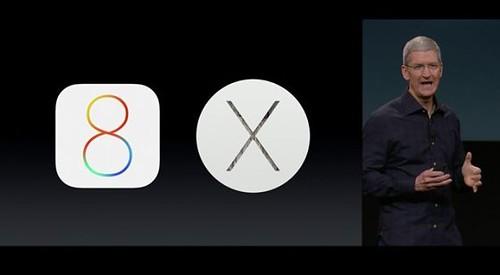 iOS8,OSX Yosemiteを発表するクックCEO