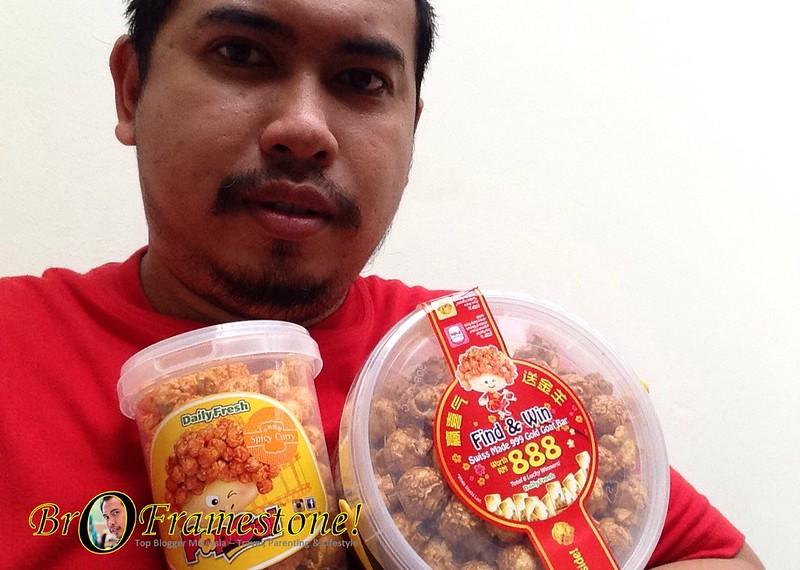 Daily Fresh - Golden Popcorn menang 999 Gold Goat Bar bernilai RM888
