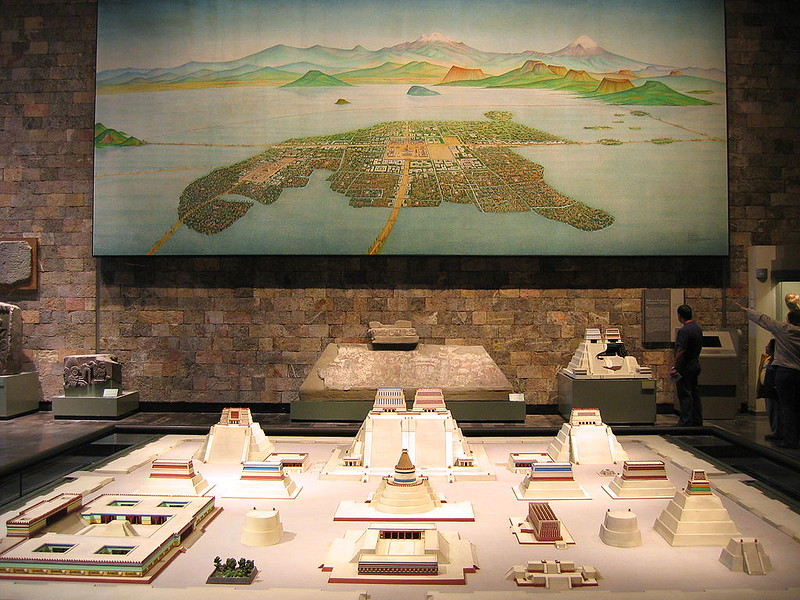 Reconstruction of Tenochtitlan in National Museum of Anthropology of Mexico City