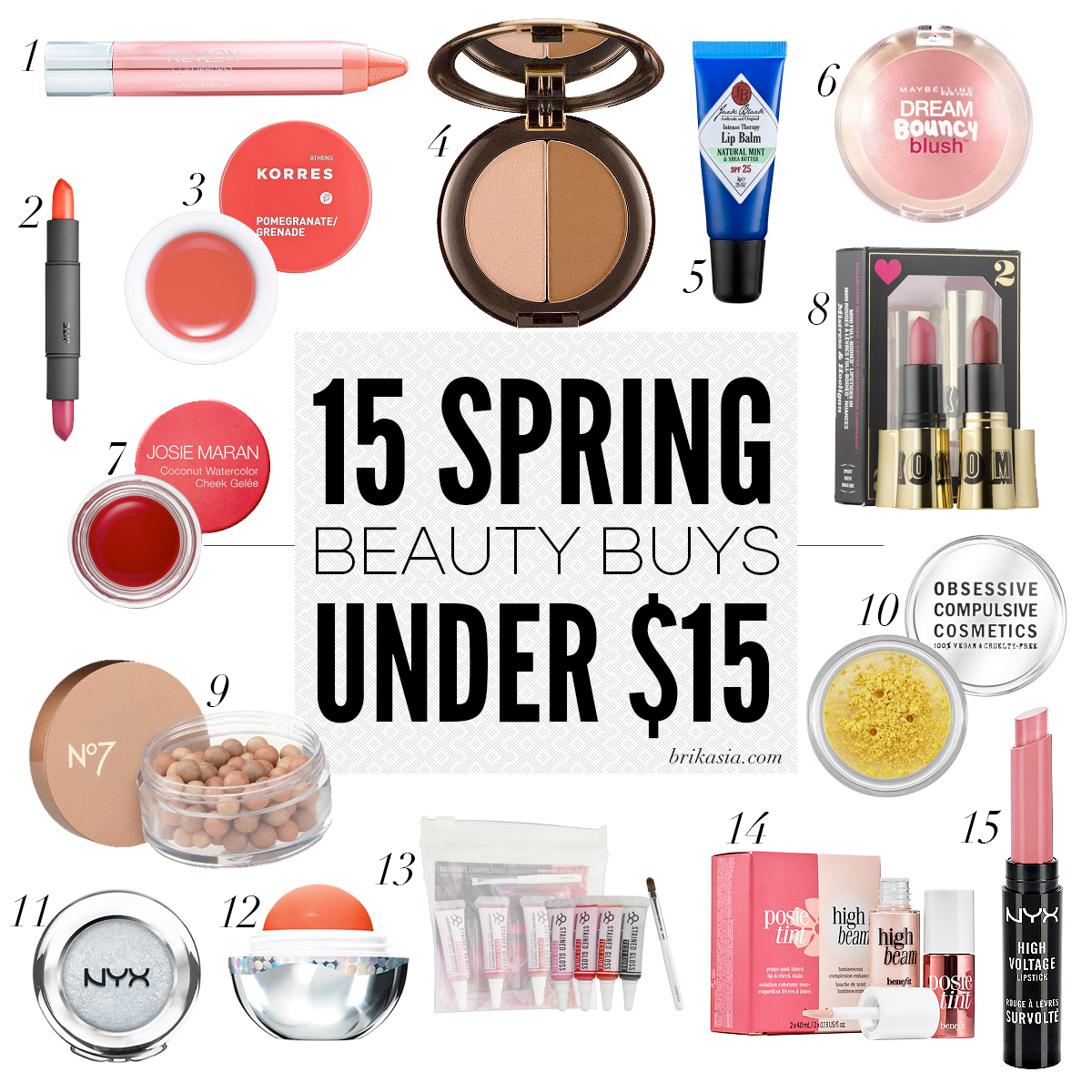 15 Spring Beauty Buys Under $15, affordable spring makeup, makeup under $15