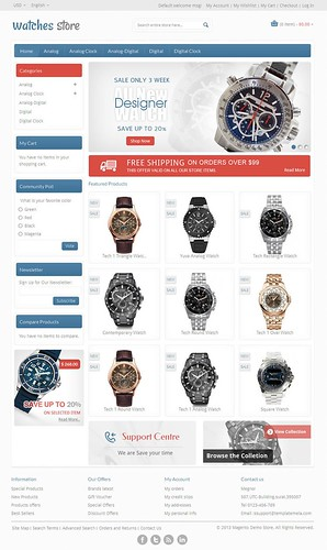 Watch Store - Responsive Magento Template