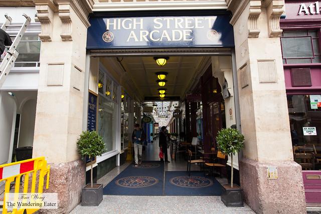 Entrance to High Street Arcade