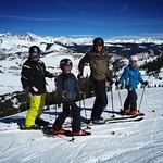 Jack, James, Abbie and myself skiing in heaven!