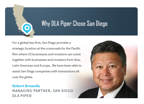 Why DLA Piper Chose San Diego with quote