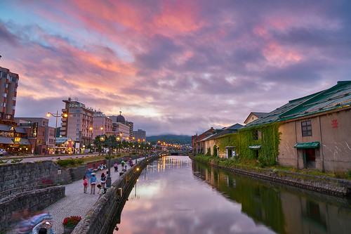 otaru unga 小樽 運河 北海道 風景 日本 japan hokkaido reflection landscape sony fe 2470mm gm f28 g master sel2470gm ilce7rm2 a7rm2 a7r2 evening glow sunset red 火燒雲 倒影 夕陽
