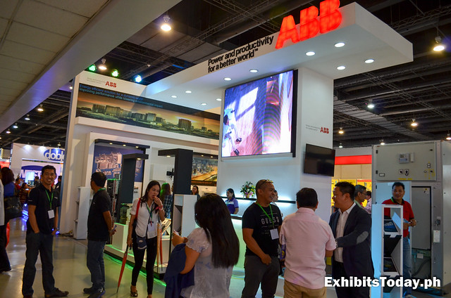Front of ABB Trade Show Display