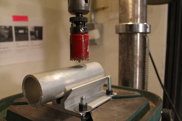 Make sure the drill press is running at the proper speed for the size of the bit you are using. Consult with shop staff if you are unsure. & Drilling Into a Pipe | ITP Fabrication