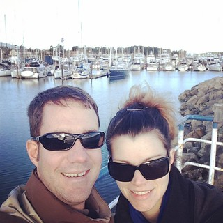 Hanging in Sydney harbour before our ferry. #thewifehatesselfies