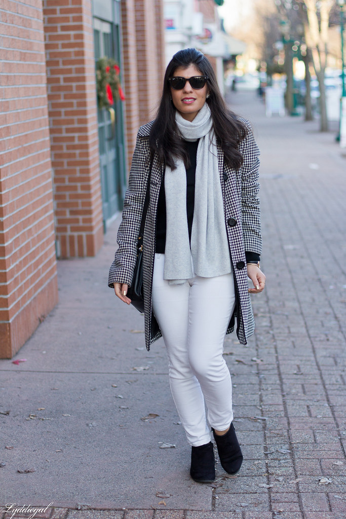 houndstooth coat, white denim, glitter booties.jpg
