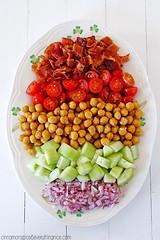 Fried Chickpea & Bacon Salad w/ Creamy Feta Dr…