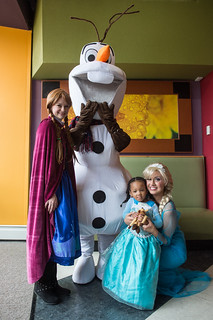 Christmas at Cabrini with characters from Frozen