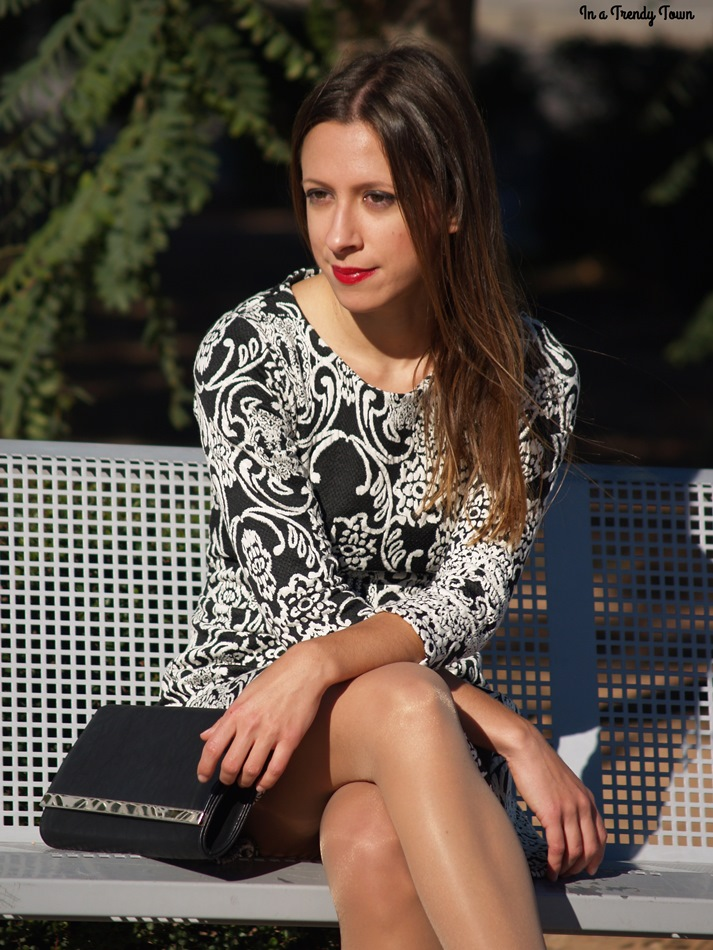 Outfit: B&W Christmas dress