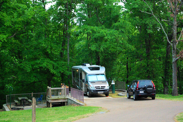 Itaska Navion iQ in Campground at  Village Creek State Park, Arkansas, April 19, 2010