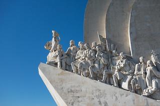 Afbeelding van Monument to the Discoveries in de buurt van Algés. portugal lisboa lisbon belém padrãodosdescobrimentos discoveriesmonument