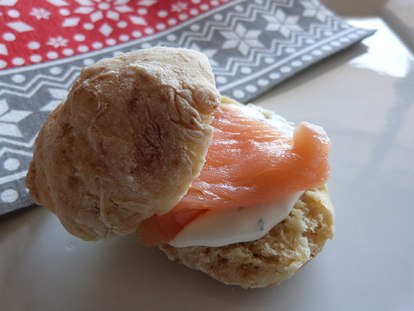 scones au saumon