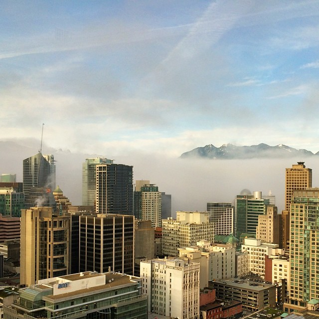 The fog is lifting :) #yvr #bdlife #vancouver