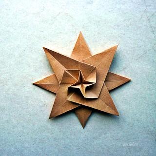 8 pointed star,  inspired by Klaus Dieter Ennen