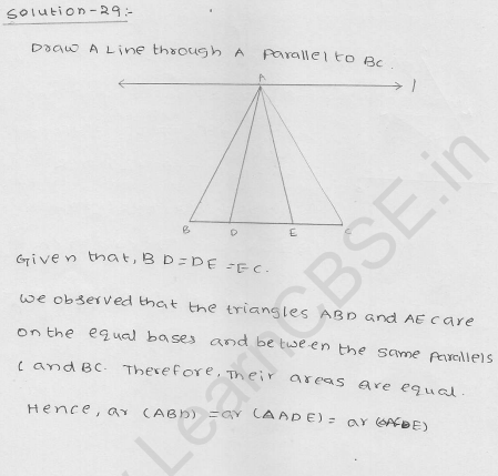 RD Sharma Class 9 solutions Chapter 15 Areas of parrallelograms and Triangles Ex 15.3 34