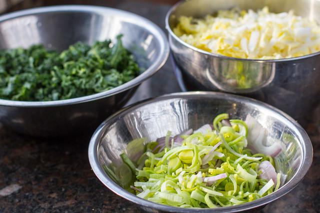 Leek, Cabbage, & Kale
