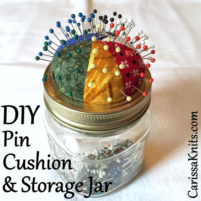 Scrappy Pin Cushion Jar