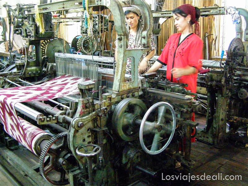valle de fergana fábrica de seda