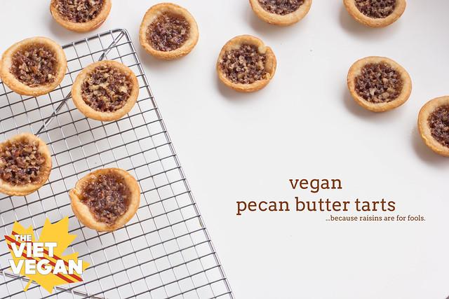 Vegan Pecan Butter Tarts