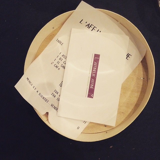 It's a proper cheese restaurant when your bill comes on a Camembert box...