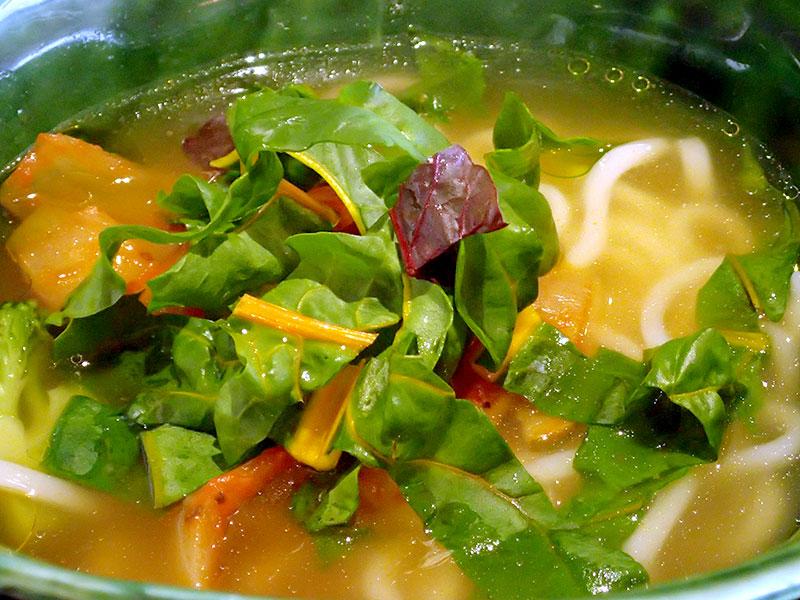 道産炙り鶏と野菜のゆず風味おうどんセット