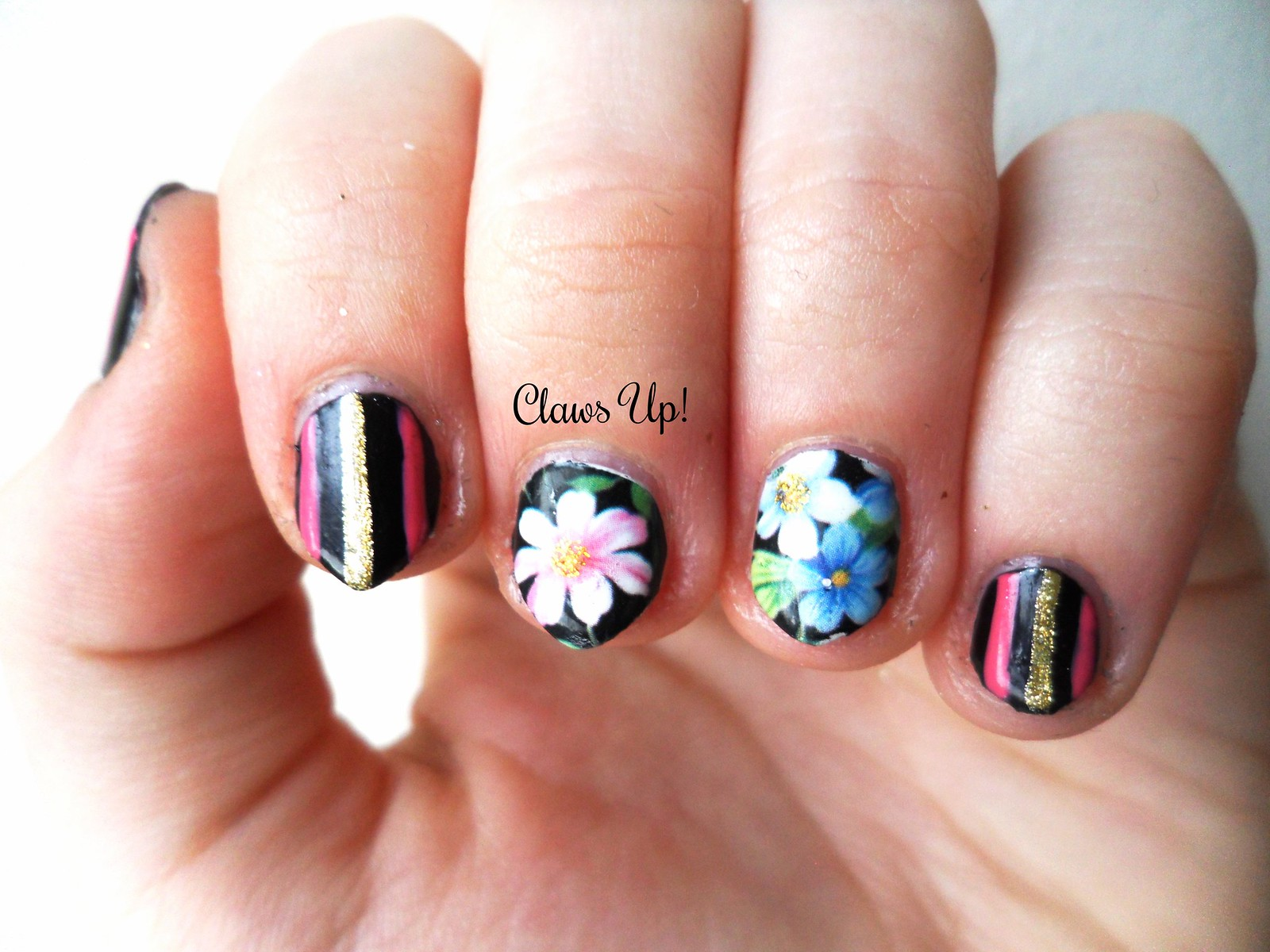 Born pretty store multicolor floral full sheet nail art decals 10% coupon code JACG10