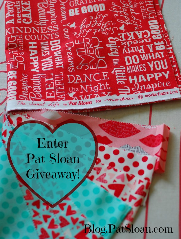 Pat sloan Valentine giveaway button
