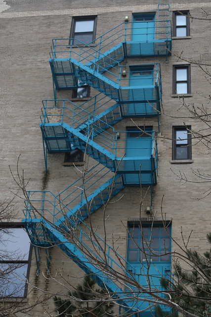 Blue Fire Escape