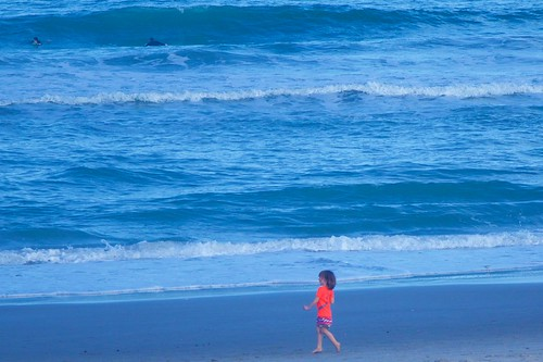 ocean beach solitude alone florida solitary indialantic redswimsuit