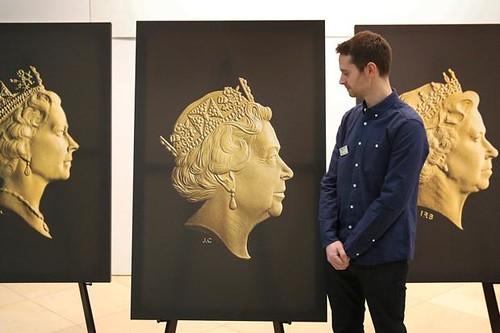 Jody Clark with new portrait of Queen