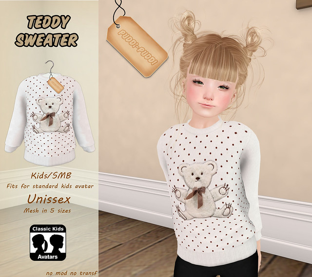 ::Puddi-Puddi:: Kids/SMB Teddy Sweater