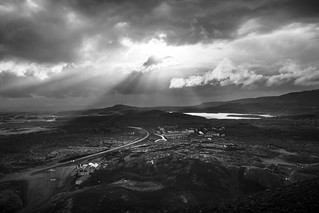 Light over Small Town