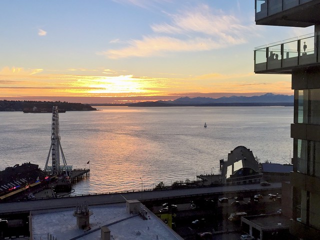 View from our room at Four Seasons Seattle